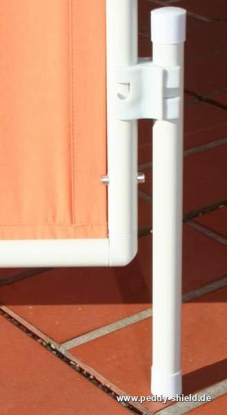 3x ParaventRahmen   Faltbarer Sichtschutz Paravent   Farbe Uni  Terracotta/orange