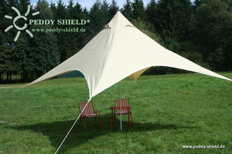 camping freizeit sonnensegel 4 pyramide 4 x 4 m sandfarben. Black Bedroom Furniture Sets. Home Design Ideas