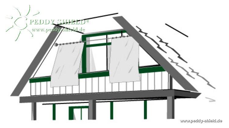 senkrecht sonnensegel 230x140 cm uni hellgrau komplett mit seilspanntechnik universal. Black Bedroom Furniture Sets. Home Design Ideas