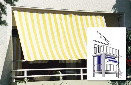 Sonnenschutz Markisen - Balkon / Pergola Bausätze - Seilspanntechnik Balkon Markisen Sonnenschutz